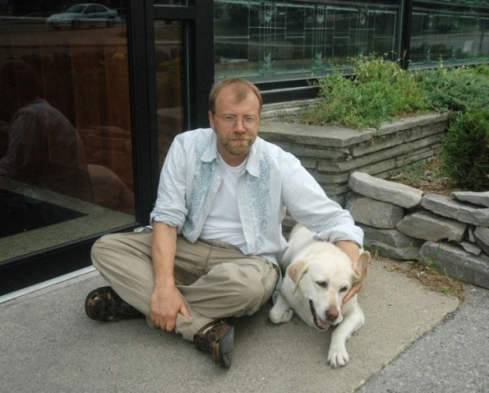 George Saunders and my departed hound Rosie
