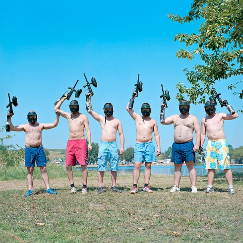 Untitled (Men with Guns) by Ezven Sobek