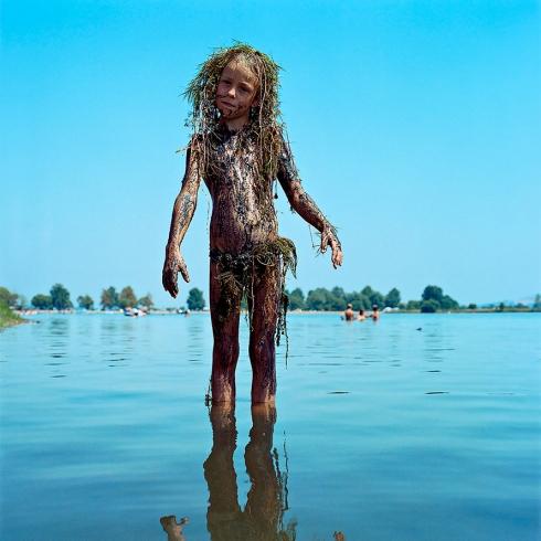 Untitled (Girl Covered in Grass) Ezven Sobek