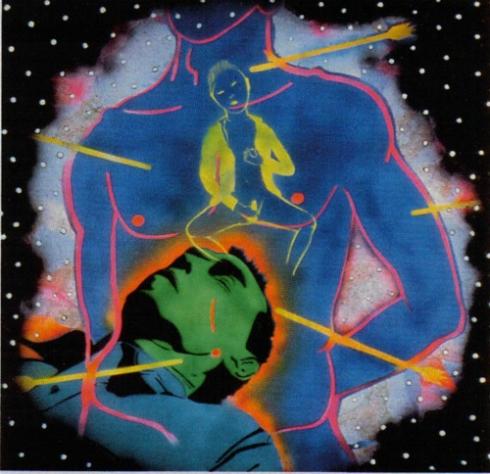 Peter Hujar Dreaming/Yukio Mishima: St. Sebastian 1982, spray paint on masonite, 48 x 48 inches