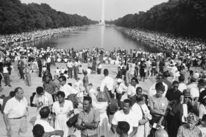Reproduced in This Is the Day: The March on Washington. © Estate of Leonard Freed – Magnum Photos (Brigitte Freed).