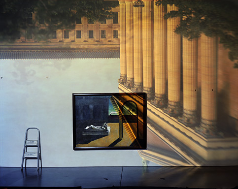 Camera Obscura/ Philadelphia Art Museum  by Abelardo Morell