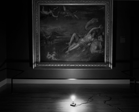 Europa Dimly Lit, by Abelardo Morell (Gardener Museum )1998
