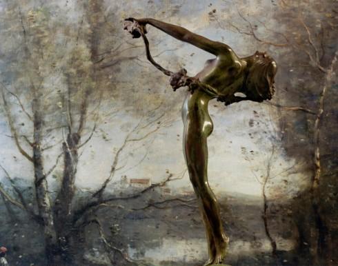 Frishmuth/Corot, by Abelardo Morell (Yale University Art Gallery, 2009)