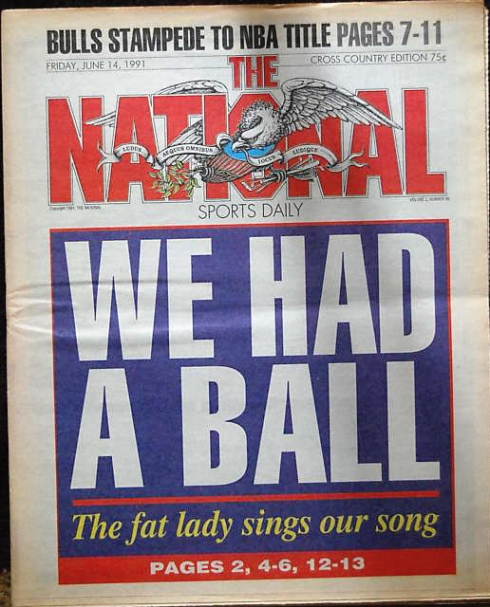 Final front page of the National Sports Daily
