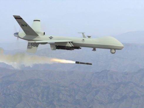 Predator drone Firing  Missiles