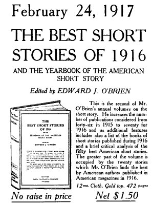 The ----Short Stories of 1917