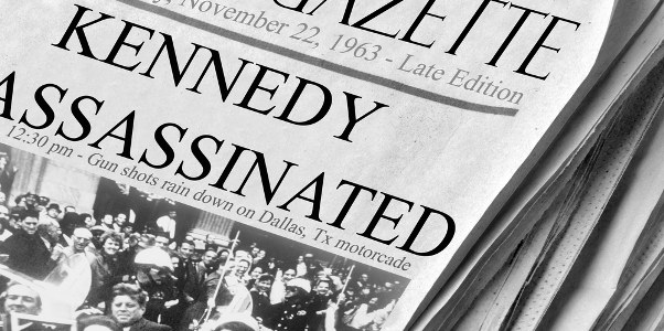 NEWSPAPER  FRONT PAGE 23 November 1963