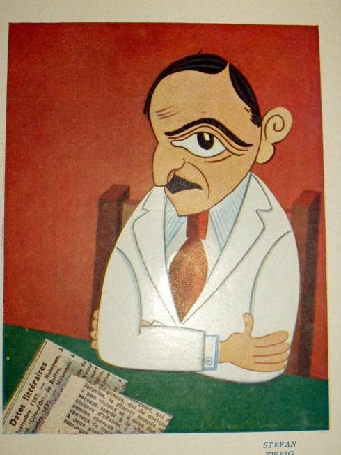 Stefan Zweig caricature