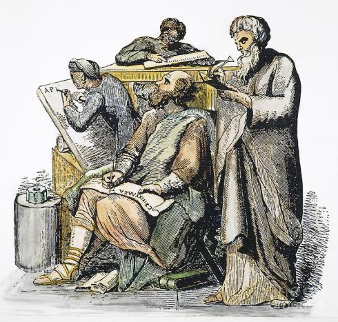 scribes-in-ancient-greece-granger