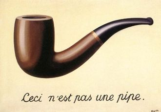 "René Magritte's ""This is not a pipe."""