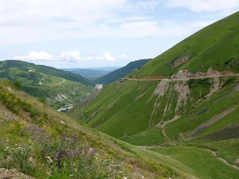 A view from the mountains in eastern Chechnya. (photo: Anthony Marra)