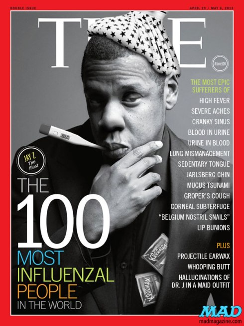 Jay Z  on Mad magazine's spoof of Time magazine's 100 Most Influentiai covers