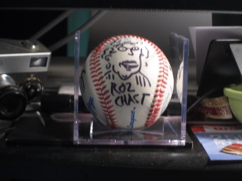 Roz Chast baseball [photo: Robert Birnbaum]