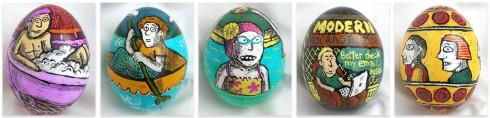 Roz Chast's Psanka eggs