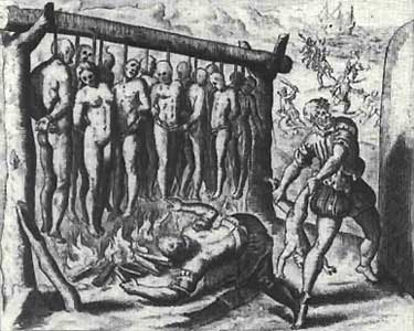 Columbus With Tainos