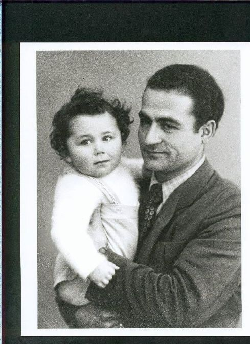 Young Isadore with his father (circa 1947) [photographer unknown