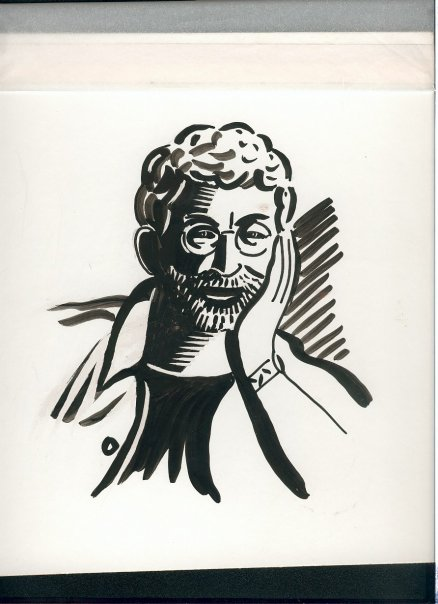 Robert Birnbaum [drawing by Anthony  Russo]