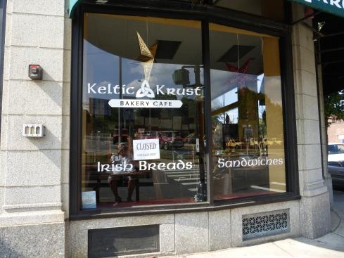 Keltic Krust,site of many authorial conversations [photo: Robert Birnbaum]