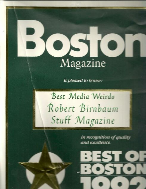 Stupid 'award' from stupid Boston Magazine