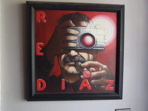 painting of Red Diaz  [by Eric What's his name]