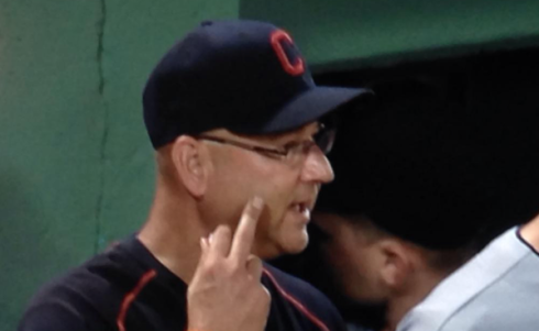 Tito salutes Don Orsillo and Jerry Remy