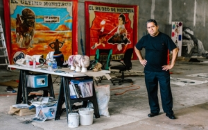 Artist José Luis Vargas, in his Santurce studio [Christopher Gregory for Al Jazeera America0