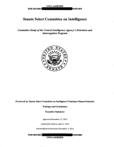 The CIA Torture Report: Unclassified by Senate Select Committee on Intelligence (