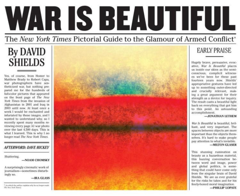 War is Beautiful by David Shields