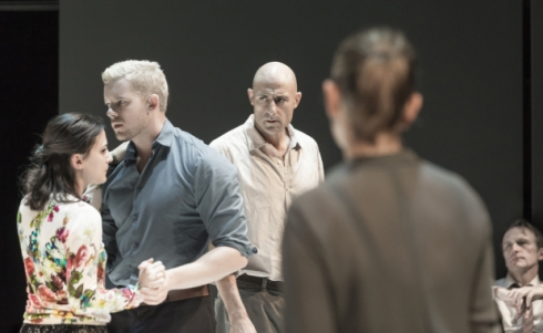 Phoebe Fox, Russell Tovey, Mark Strong, Nicola Walker, and Michael Gould star in Arthur Miller's A View From the Bridge, directed by Ivo van Hove