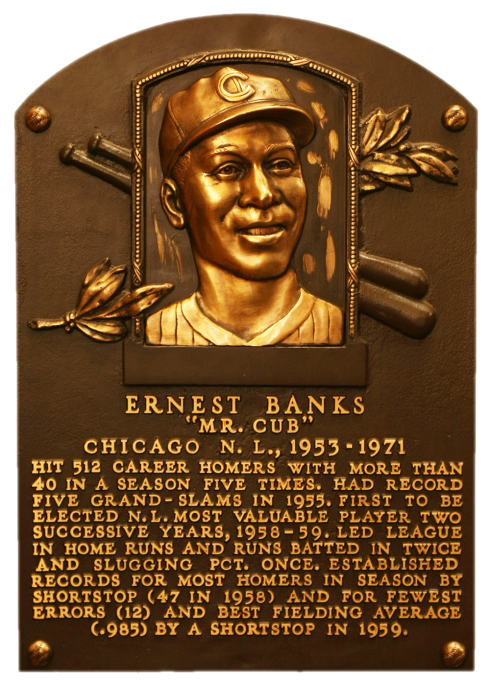 Mr Cub, Ernie Banks Baseball Halll of Fame plaque